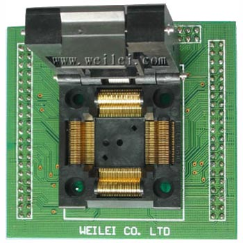 Wellon PQFP80-M431 Socket Converter for Motorola and Freescale microcontrollers