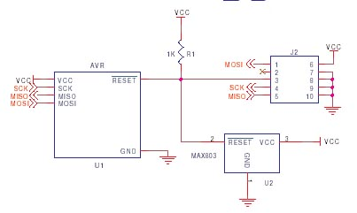 AVR ISP circuit schematic 10