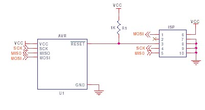 AVR ISP circuit schematic 2