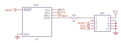 AVR ISP circuit schematic 3