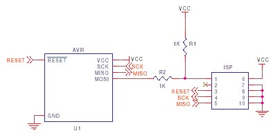 AVR ISP circuit schematic 4
