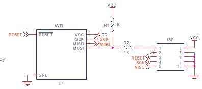 AVR ISP circuit schematic 5