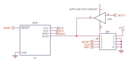 AVR ISP circuit schematic 6