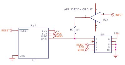 AVR ISP circuit schematic 7
