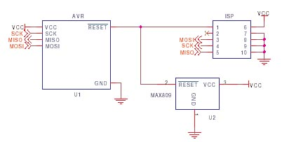 AVR ISP circuit schematic 8