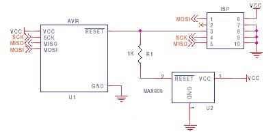 AVR ISP circuit schematic 9