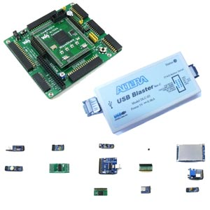 Altera EP4C Cyclone 1V FPGA NIOS II evaluation development board and accessories