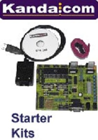 Starter kits including PIC Kit, AVR Board, STK200, STK300
