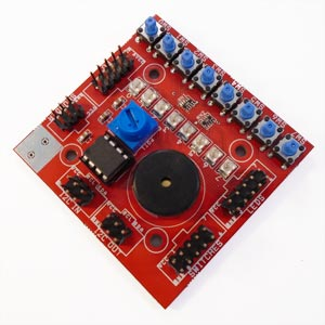 Microcontroller programming board for MiCRO-X embedded systems kit