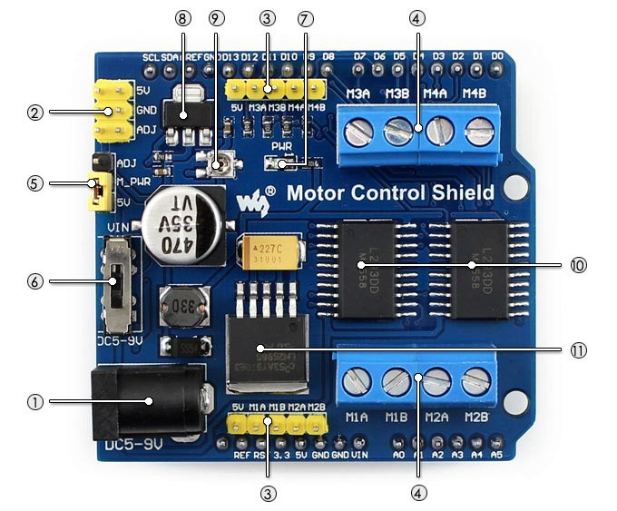 motor shield layout