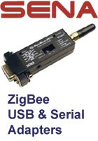 ZigBee serial and USB adapters picture